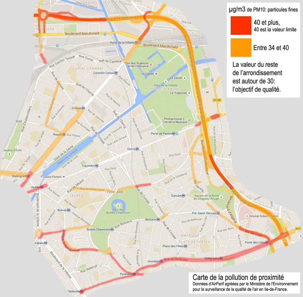 Carte pollution PM10