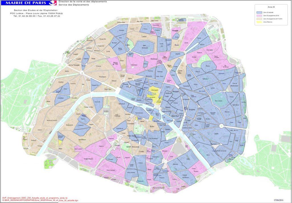 Carte de création des zones 30